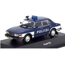 Saab 99 1974 Policía police  1:43 coche Atlas Diecast