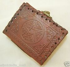 Handmade Leather Journal Mini Pocket Diary Pentagram Embossed Book of Shadows