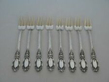 Set of 8 Towle Sterling Silver King Richard Seafood Forks