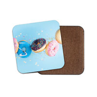 Colourful Doughnuts Coaster - Sprinkles Donuts Food Sweets Blue Fun Gift #15279