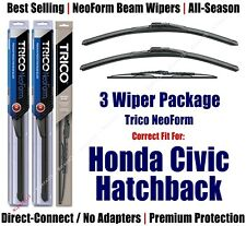 3pk Wipers Front & Rear NeoForm - 1984-1986 Honda Civic Hatchback 16180x2/30150