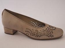 HASSIA Damen Schuhe 37 1/2 H Leder Pumps Für lose Einlagen Creme NEU