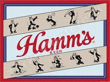 """HAMM'S BEER 10 BEARS 9"""" x 12"""" METAL SIGN"""