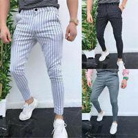 New Men Casual Slim Fit Skinny Business Formal Suit Dress Pants Slacks Trousers