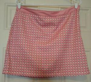 Women's Greg Norman Size 6 Skirt Skorts - Pink & White  -Golf -Tennis - Sporty