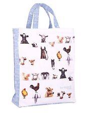 Ashdene Farmyard Friends Tote Bag Cows Pig Chickens Sheep Horse 100% Cotton New