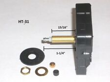 High Torque Clock Movement (SILENT) Extended Shaft For Long Hands,  XLong 15/16""