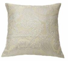 Ann Gish Arabesque Paisley Metallic Pillow - Platinum & Cream