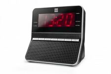 Dual CR 09 Uhren-Radio Großes dimmbares LED-Display FM Radio in Silber / Schwarz