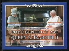 NEVIS  POPE BENEDICT XVI VISITS  ISRAEL IMPERF SHEET   MINT NH