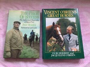 PAIR VINTAGE HORSE RACING TRAINERS HARDBACK BOOKS..RYAN PRICE..VINCENT O'BRIEN