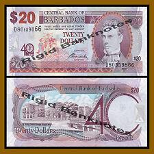 Barbados 20 Dollars, 2012 P-72 Commemorative 40 Years Central Bank Unc