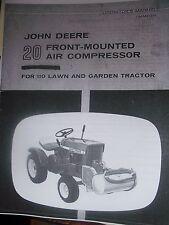 JOHN DEERE 110 Round Fender  20 Front-Mounted Air Compressor Manual  OM-M41263