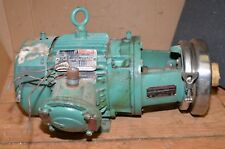 Reliance 3 hp 230/460V motor & stainless steel Tri-Clover rotary pump beer wine