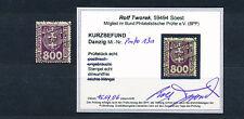 Danzig 800 Pfennig Wappen Portomarke 1921 gute Farbe Michel 13 a Befund (S14490)