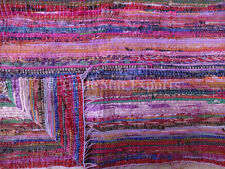Large Indian Rag Rug 4X6 Oriental Area Rug Vintage Fabric Dhurrie Fabric Carpet