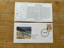 CAPE CABO VERDE 2000 FDC PCS MILLENNIUM BEACH WORLD HOURGLASS #RARE#