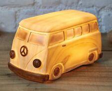New Split Screen Wood Effect VW Camper Van LED Table Lamp Night Light Kids Boys