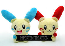 POKEMON MINUN And PLUSLE LOTTO 2 SOFT TOY snowman plush Plüsch doll Negapi