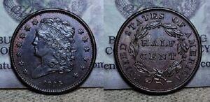 1835 Classic Head Half Cent 1/2c