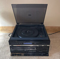 Fisher Stereo Receiver Turntable 45/33 Record Player Radio MC-620 Vintage Works