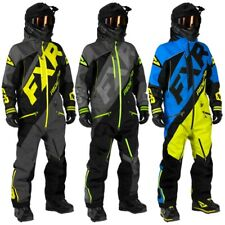 FXR Men's CX F.A.S.T Insulated Winter Monosuit - Hi-Vis, Black & Lime, or Blue