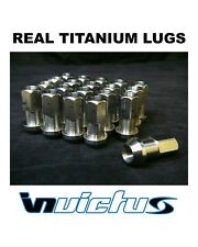 Invictus Real Titanium Race Lug Nuts M12 x 1.25 USA Tuner Lite Weight 20pcs