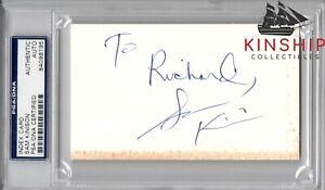 Sam Kinison signed 3x5 Index Card PSA DNA Slabbed Auto d.1992 Comedian C744