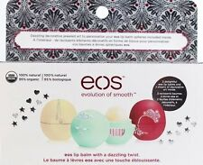 EOS Decorative Stickers Holiday Lip Balm Gift Set Limited Vanilla Bean Free Gift