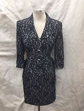 ALBERT NIPON SKIRT SUIT/NEW WITH TAG/RETAIL$280/SIZE 16/NAVY/LACE /3/4 SLEEVE