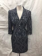 ALBERT NIPON SKIRT SUIT/NEW WITH TAG/RETAIL$280/SIZE 18/NAVY/LACE /3/4 SLEEVE