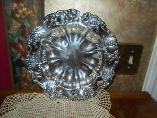 Towle Vintage Old Master Silverplate Round Serving Bowl Fruit Bowl Display