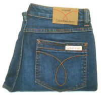 CALVIN KLEIN WOMENS SIZE W28 X L30 HEMMED STRAIGHT LEG BLUE JEANS FREE POST