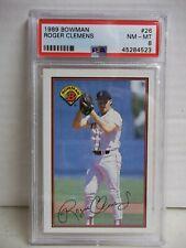 1989 Bowman Roger Clemens PSA NM-MT 8 Baseball Card #26 MLB