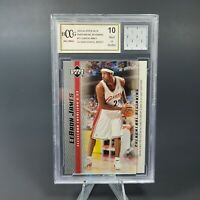 Lebron James ROOKIE GAME USED HS JERSEY PATCH - LAKERS CAVALIERS BECKETT BCCG 10