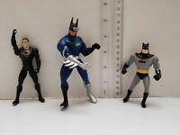 Vintage 1990s Kenner Batman Superman Action Figure Toy Lot of 3