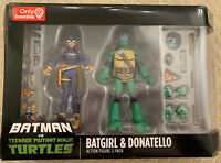 GAMESTOP BATMAN VS TEENAGE MUTANT NINJA TURTLES TMNT BATGIRL & DONATELLO 2-PACK