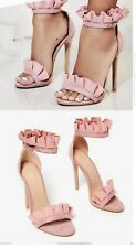 Sexy Frills Thin Hight Heels Sandals Pink Size3/36