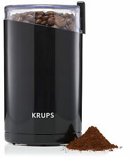 Krups Electric Fast Touch Coffee Spice Grinder w/ Stainless Steel Blades, Black
