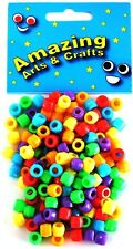 Pony Beads Assorted Colours 150 by Amazing Arts and Crafts