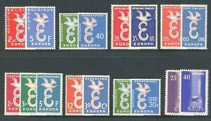 1958 EUROPA CEPT complete year set MNH