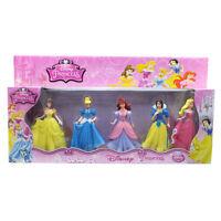 5 Disney Princess Toy Figurines Set- Birthday Cake Topper -Birthday Friends Play