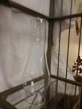 """Clear Glass 3"""" Fitter Hurricane Shade Oil Lamp Or Candle Holder 10"""" Tall"""