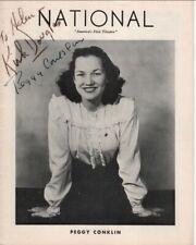 "Kirk Douglas & Peggy Conklin Autographs, ""Star In The Window"", 1945"