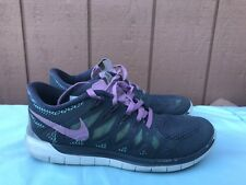 Women's 7.5 Nike Free 5.0 Dark Grey Light Magnet Turquoise Running 642199-061 A2