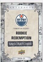 PHILIP BROBERG 2020-21 Upper Deck ARTIFACTS ROOKIE REDEMPTION  #192 RC OILERS