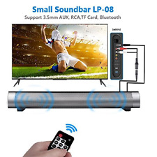 MINI Bluetooth Wireless Remote Control Soundbar Speaker Home Theatre Subwoofer