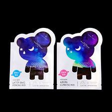 The Oozoo Bear Water-Bang Hydrating + Aurora Illuminating Facial Mask Skincare