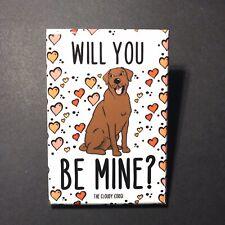 Chocolate Labrador Retriever Dog Hearts Magnet Valentines Day Gift Holiday Decor
