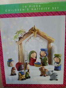 NORTH POLE 10 Piece Children's Nativity SET